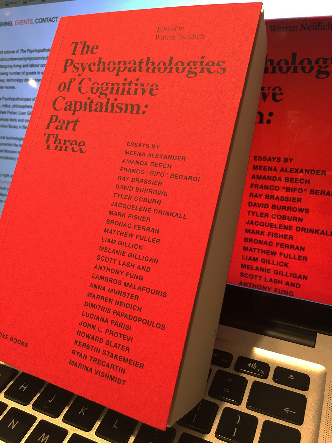 - BOOK LAUNCH The Psychopathologies of Cognitive Capitalism Part Three, with Warren Neidich