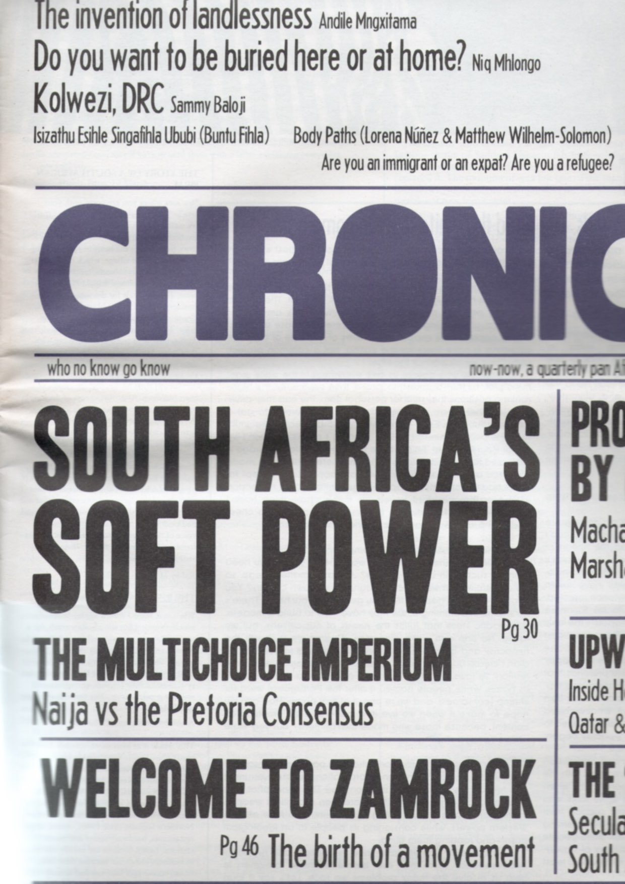 EDJABE, Ntone (ed.) - The Chimurenga Chronic (April 2013)