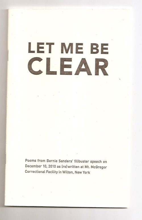 BENSON, Cara (ed.) - Let me be clear (Ugly Duckling Presse)